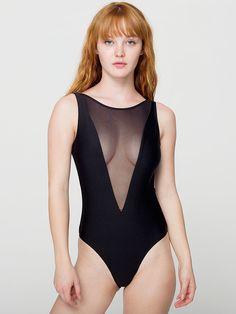 Gloria-V One-Piece Bathing Suit   One-Pieces   Womens Swimwear   American Apparel