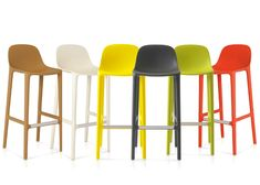 Philippe Starck creates stools made from recycled materials for Emeco. Great solution for your kitchen breakfast bar