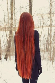 Long hair ~ Red. very beautiful and longest it should be.