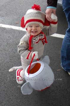 "Cutest Sock ""Hop"" Monkey Halloween Costume - 0"