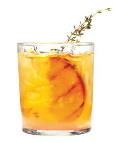 Grilled-Peach Old-Fashioned