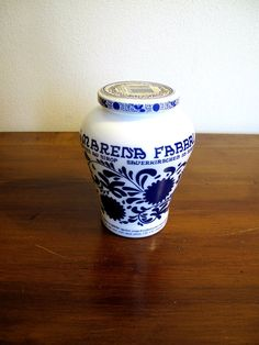 Vintage Ceramic Jar Amarena Fabbri ( Cherries in syrup)