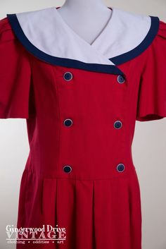 A personal favorite from my Etsy shop https://www.etsy.com/listing/263967190/vintage-1980s-red-white-and-blue-sailor