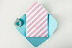 How to make your own envelope and liners, could be a money saving way to get the perfect envelope Second Birthday Ideas, Handmade Envelopes, Paper Crafts, Diy Crafts, Make Beauty, Make Your Own, How To Make, Candy Stripes, Inexpensive Gift