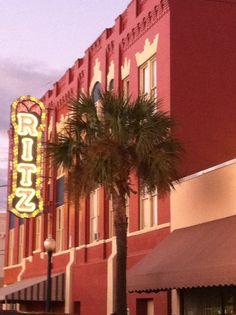 The Historic Ritz Theatre in downtown Brunswick, GA.  www.GoldenIsles.com
