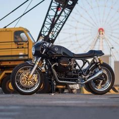 New from @officine_rossopuro: A Moto Guzzi Le Mans Mk III...