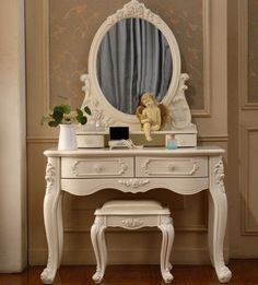 Luxury French-Style Carved Detailed Wood Vanity Set 4 Designs-Loluxe