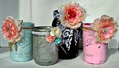 all things cRAEtive: distressed jars