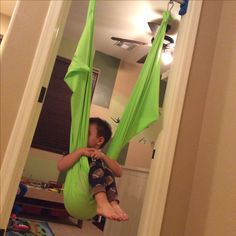 DIY Lycra indoor therapy swing for Sensory Processing Disorder SPD, Autism, ADHD or vestibular function disorders