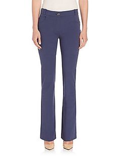 Peserico Four-Way Stretch Flared Pants - Navy - Size