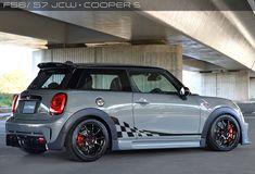 White Mini Cooper, Mini Cooper Stripes, Mini Cooper Custom, Mini Cooper Tuning, Mini Cooper Clubman, Weird Cars, Cool Cars, My Dream Car, Dream Cars