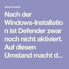 Nach der Windows-Installation ist Defender zwar noch nicht aktiviert. Auf diesen Umstand macht das Tool jedoch mit einer Warnung aufmerksam. Microsoft bitte Nutzer sogar darum, Antiviren-Software von anderen Anbietern zu deinstallieren, um Defender zu aktivieren.  Als unfair stuft Kaspersky außerdem die Tatsache ein, dass Microsoft auf Windows-10 nur einen aktiven Virenscanner plus Defender erlaubt. Installieren Nutzer eine weitere Antiviren-Lösung, schaltet Windows automatisch diese als…