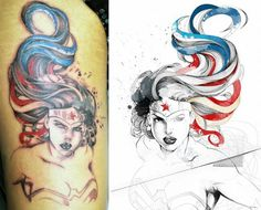 love this wonder woman tattoo