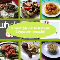 Whole30 OAMC(Once a Month Cooking) Freezer Menu