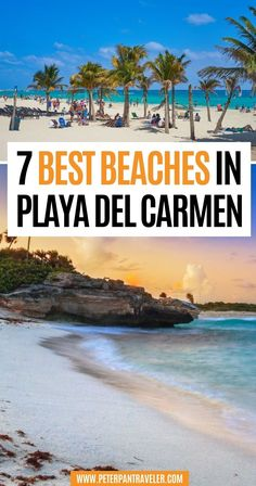 7 Best Beaches in Playa Del Carmen. A popular tourist destination in the Riviera Maya and home to some of the best beaches in Playa del Carmen. There are also many resorts, hotels, and tourist attractions. Check out this list of the 7 best beaches to enjoy during your vacation in Playa del Carmen. Beach Travel | Beach Vacations | Beach Destinations | Beach Vacations Destinations | Dream Vacations | Cancun Vacation, Mexico Vacation, Mexico Travel, Jamaica Travel, Costa Rica Travel, Beach Travel, Caribbean Vacations, Beach Vacations, Dream Vacations
