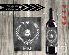 Handmade 'Bee Mine' Wine Label - Reader Feature - The Graphics Fairy