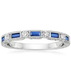 The Vintage Sapphire and Diamond Ring #BrilliantEarth