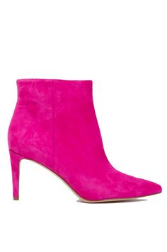e3725d52aac4 Sam Edelman Karen Pointed Toe Ankle Boots in Pink Suede