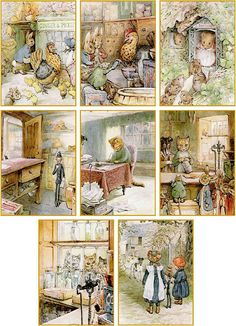 Vintage Beatrix Potter Ginger and Pickles cards tags set of 8 with envelopes | Home & Garden, Greeting Cards & Party Supply, Greeting Cards & Invitations | eBay!