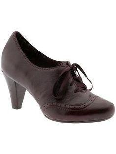 Ooooh! Oxfords with heels. Am I being fashion-forward, or falling back to the 1940s?