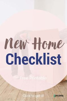 Wondering what essentials you need for your first house? Get this free first home checklist and get collecting what you need. Our first home checklist is a free printable just for you! Moving Day, Moving Tips, Moving House, First Home Checklist, Moving Checklist, Home Buying Tips, Home Buying Process, Real Estate Quotes, Real Estate Tips