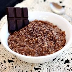 Steel-cut oats simmered overnight in a dairy-free chocolate milk...a crock pot breakfast to get your day started right!