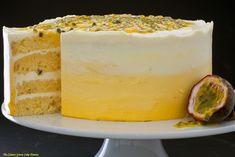 Passionfruit Cake – The Lemon Grove Cake Diaries Food Cakes, Cupcake Cakes, Cupcakes, Just Desserts, Dessert Recipes, Cupcake Recipes, Passion Fruit Cake, Fruit Birthday Cake, Passionfruit Recipes