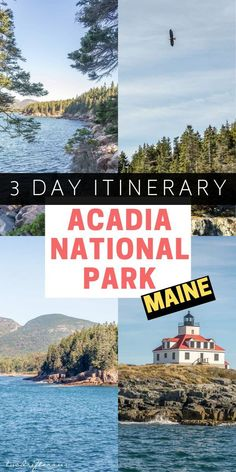 Planning a trip to Acadia National Park in Maine? Here's how to best explore the… Planning a trip to Acadia National Park in Maine? Here's how to best explore the region in 3 or 4 days (plus the town of Bar Harbor). Acadia National Park, Us National Parks, Parc National, Cool Places To Visit, Places To Travel, Travel Destinations, Vacation Places, Vacation Spots, Maine Road Trip