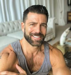 Moustache, Beard No Mustache, Sexy Beard, Awesome Beards, Hairy Chest, Fine Men, Man Photo, Male Face, Beard Styles
