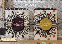 by Holly: Among the Branches, Happy Haunting dsp, Spider Web Doilies, Mini Treat Bag Thinlits, & more - all from Stampin' Up! (Video & pdf)