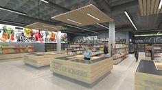 Infografía Entrada Principal Supermarket Design, Fruit Shop, Shop Fittings, Retail Design, Store Design, Portal, Pure Products, Shopping, Spa