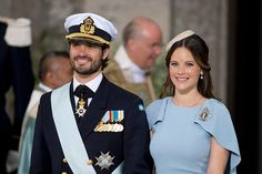 Prince Carl Philip of Sweden and Princess Sofia of Sweden attend the christening of Prince Oscar of Sweden at the Royal Palace in Stockholm on May 27...