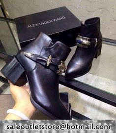 Alexander Wang Winter new Ethnic style buckle Short Boots Black #women fashion outfit #clothing style