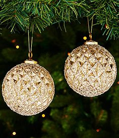 Trimsetter Peace on Earth Collection Metallic Ball 2Piece Ornament Set #Dillards