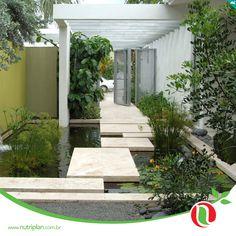 As únicas fontes de alimento das plantas são água e a luz solar. Qual seria a solução para manter seu jardim lindo sem prejudicar o meio ambiente? Espelhos d´água podem ser uma solução inteligente e muito agradável para o verão!