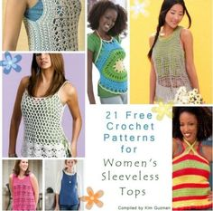 21 Womens Free #Crochet Patterns for Sleeveless Tops - STOP searching and STOP making.