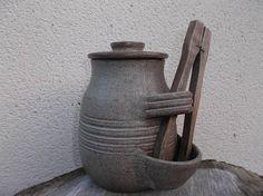 poterie française gros pot de cuisine pour cornichons avec