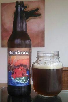 Slumbrew's Lobstah Killah, an imperial red ale. Very, very good! #Slumbrew #LobstahKillah #craftbeer #localbeer