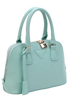 Fashion Gold-Tone Hardware PU Handbag - OASAP.com