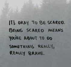 Its okay to be scared, being scared means you're about to do something — mantraband® bracelets Positive Quotes, Motivational Quotes, Inspirational Quotes, Inspirational Jewelry, Quotable Quotes, Citation Parents, Senior Year Quotes, Great Senior Quotes, Senior Qoutes