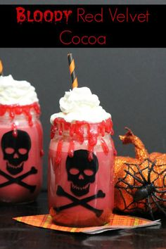 Looking for a Halloween twist on a classic treat? Try this Bloody Red Velvet Cocoa