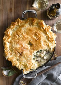Chicken Pot Pie with Mushrooms and Thyme
