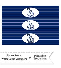 Printable Dodgers Logo Cupcake Toppers From