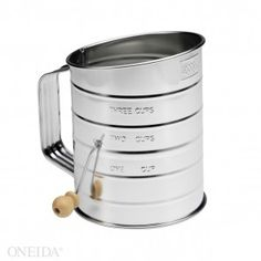 $12  Good Cook Tin Sifter with Hand Crank