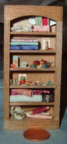 Dollhouse Miniature Half Scale Taylor Jade OOAK Filled Sewing Cabinet 1 24 | eBay