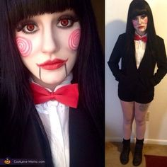 Brittani: As you can see, I'm a female version of Jigsaw from the Saw movies. The best thing about it, I had the whole costume already.