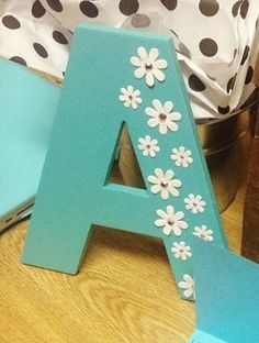 Decorated letters Source by nataliepirrone Wood Letter Crafts, Diy Letters, Wooden Letters, Fun Crafts, Diy And Crafts, Crafts For Kids, Paper Crafts, Creative Crafts, Wood Letters Decorated