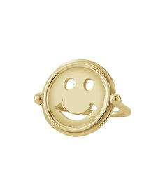 Gus + Al Gold 'Smile' Ring