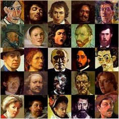 Famous artists self-portraits