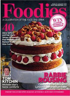 Foodies Magazine January 2016 A Celebration of Fine Food & Drink Summer Desserts, Summer Recipes, Baking Magazines, Yotam Ottolenghi, January 2016, Food Photo, Free Food, Foodies, Cake Decorating